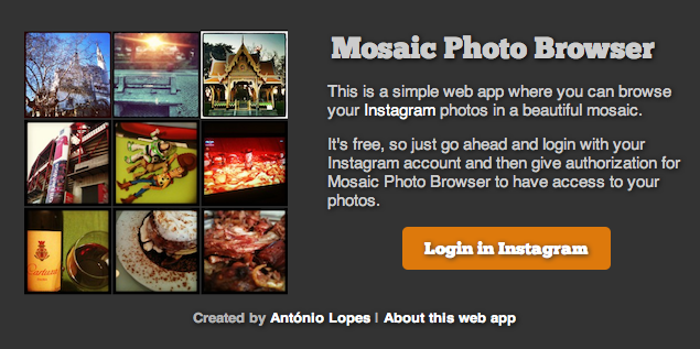 Mosaic Photo Browser