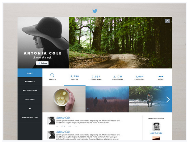 Twitter redesign